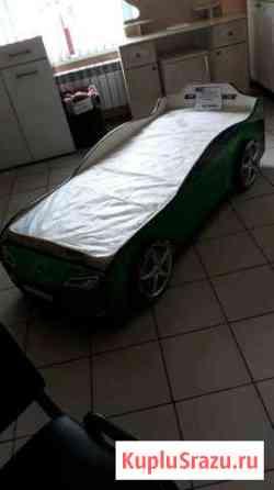 Кровать машинка с пружинным матрасом Черногорск