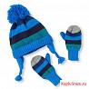 Набор шапка варежки childrensplace 6-12 месяцев