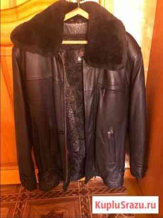Кожаная зимняя куртка с подстежкой Горно-Алтайск