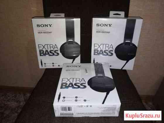 Наушники с микрофоном sony MDR-XB550AP Black Томск