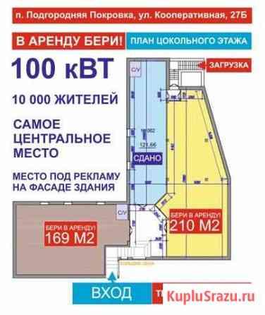 Сдам торговую площадь Подгородняя Покровка