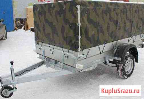 Автоприцеп Трейлер 2.6х1.3м тент-камуфляж Ярославль