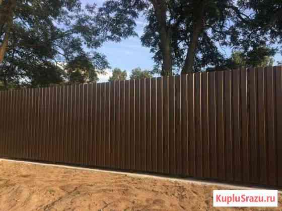 Забор из профнастила Долгопрудный