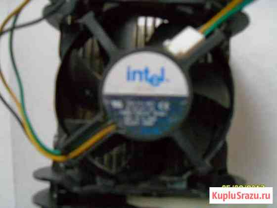 Радиатор с вентилятором в сборе процессора Гусь-Хрустальный