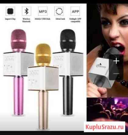 Микрофон караоке беспроводной с Bluetooth и USB Киров