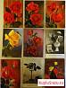 Набор открыток № 1 (цветы) Германия. 27 шт