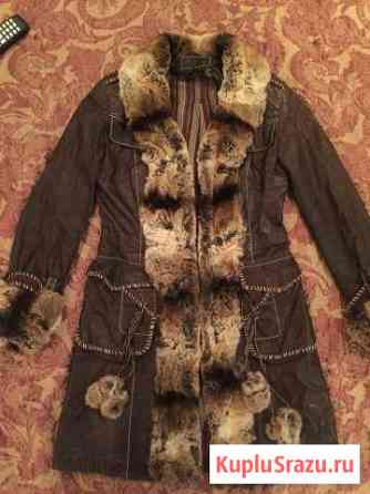 Кожаная куртка с отделкой шиншилла Якутск