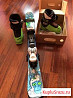 Лыжи горные детские, ботинки горнолыжные
