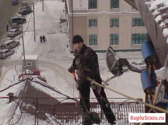 Уборка снега с крыш и очистка кровли от наледи Казань