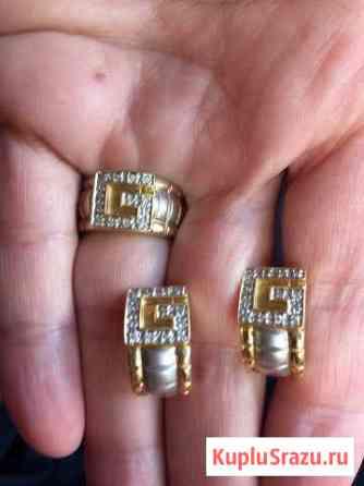 Золотые серьги и кольцо Лесной Городок
