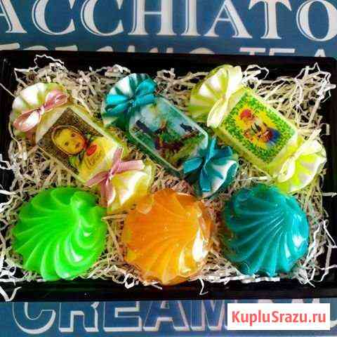 Мыло ручной работы набор конфетки зефир Домодедово