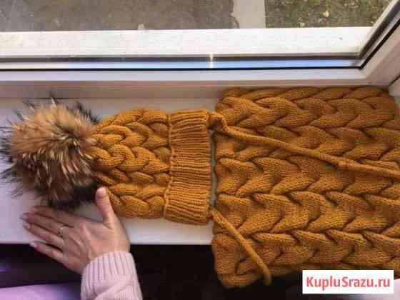 Комплект Шапка и снуд без помпона Краснодар