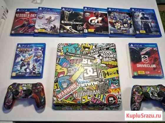 Sony PS4, 2 геймпада, 10 топовых игр Набережные Челны