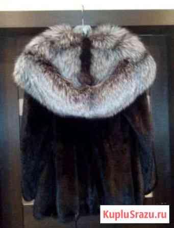 Норковая шуба с чернобуркой Екатеринбург