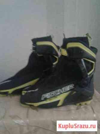 Лыжные ботинки и лыжи Чебаркуль