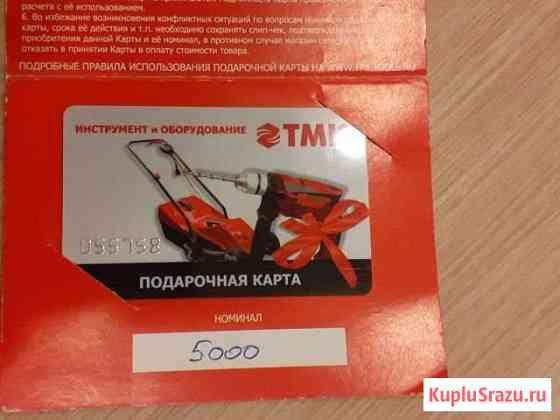 Сертификат в тмк Саров