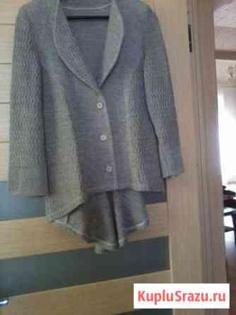 Пиджак вязанный из льна р-р 46-48 рос Отрадное