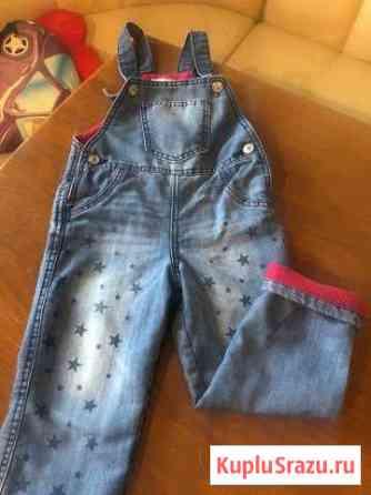 Тёплый джинсовый комбинезон 2-3года Майкоп