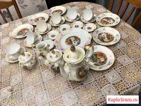Сервиз чайный, столовый, чайный гдр, клеймо Кахла Майкоп
