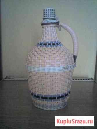 Винная бутыль в оплетке Бийск