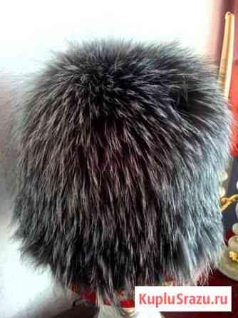 Песцовая шапочка -резинка женская Белогорск