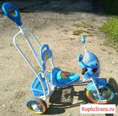 Детский трёх колёсный велосипед с родительской руч Серышево