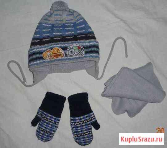 Шапка, шарф, варежки (комплект) Астрахань