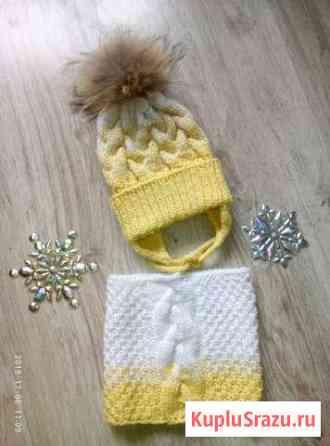 Комплект шапка снуд для малышки Уфа