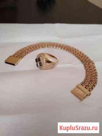 Золотой браслет и печатка Волжский