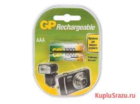 Батарейки аккумуляторные GP, AAA, Ni-Mh, 1000 mAh Махачкала