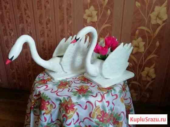 Кашпо под цветы Лебедь из гипса Петропавловск-Камчатский