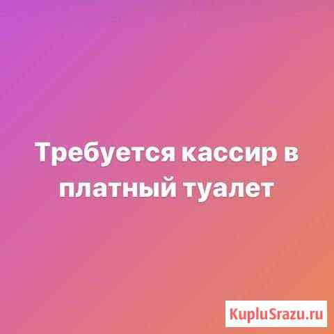 Требуется кассир в туалет Борисоглебск