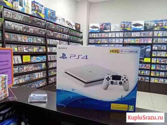 Sony PS4 Slim Новая (Цвет белый) гарантия 1 год Иваново