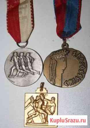 Комплект медали спорт Европа винтаж Севастополь