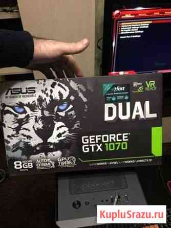 Видеокарта новая Asus dual GeForce Gtx 1070 8gb Нальчик