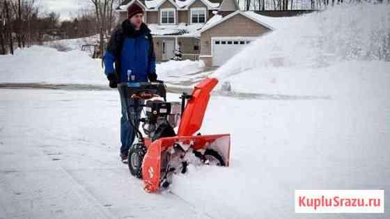 Уборка снега снегоуборщиком Петрозаводск