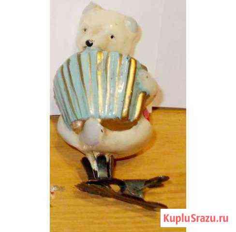 Медведь Умка с гармошкой Елочные игрушки СССР Севастополь