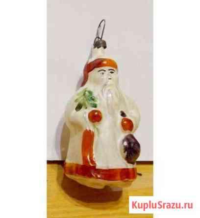 Дед мороз Елочные игрушки СССР, редкий, довоенный Севастополь