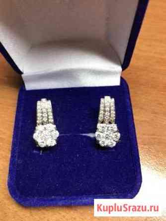Золотые серьги с бриллиантами Липецк