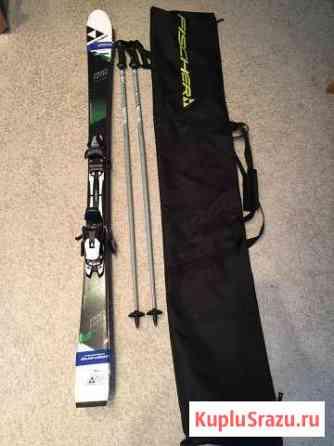 Горные лыжи Фишер 160 см. с креплениями и чехлом Магадан