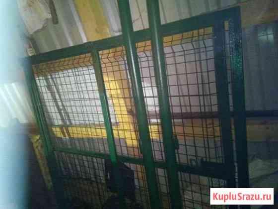 Ворота 2 ставни 1,5*1,5 метра со столбами Гдов