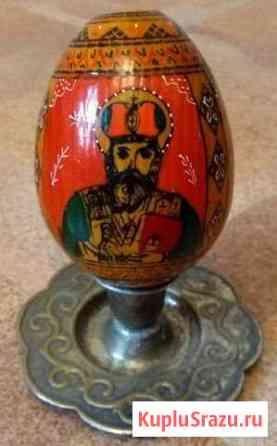 Яйцо пасхальное дерево роспись 20 век Псков