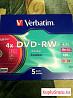 Диски Verbatim DVD-RW 5 шт