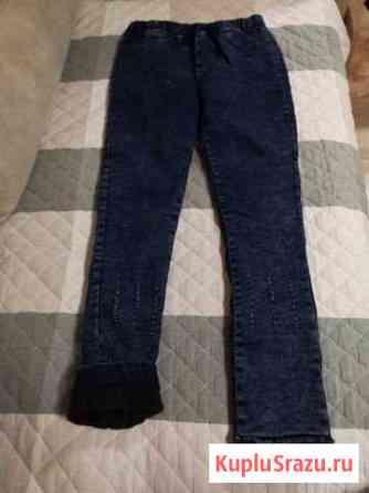 Новые утеплённые джинсы стрейч на флисе Томск