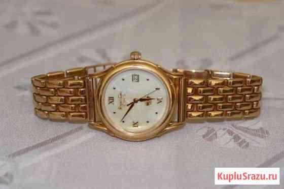 Золотые часы с золотым браслетом, мужские Псков