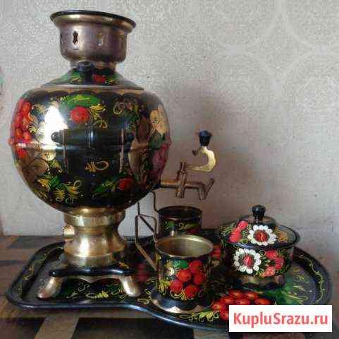 Самовар,поднос,два подстаканника и сахарница СССР Орёл