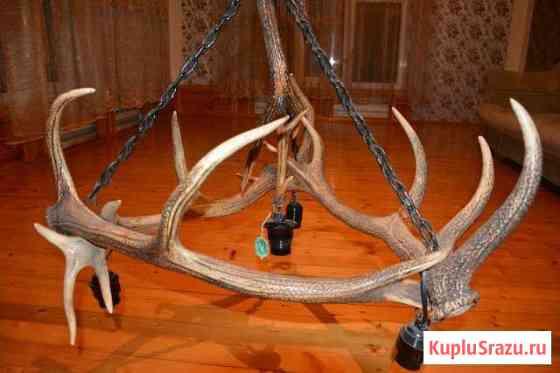Люстра из оленьих рогов Пятигорск