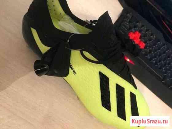 Бутсы Adidas X18.1 SG оригинал Русское