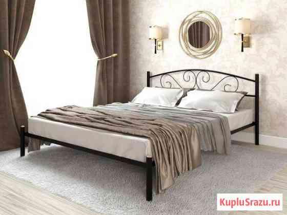 Кровать двуспальная металлическая Ларго flame Кызыл