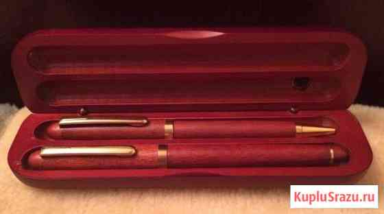 Подарочный набор ручек. Перьевая и шариковая Гагарин